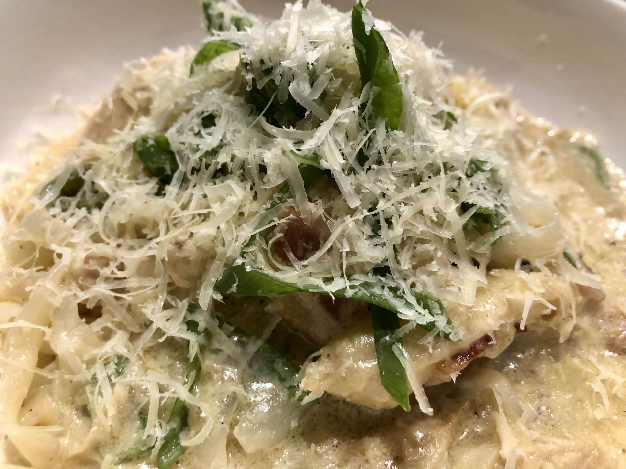 Creamy Chicken and Bacon Fettuccine Keto Style